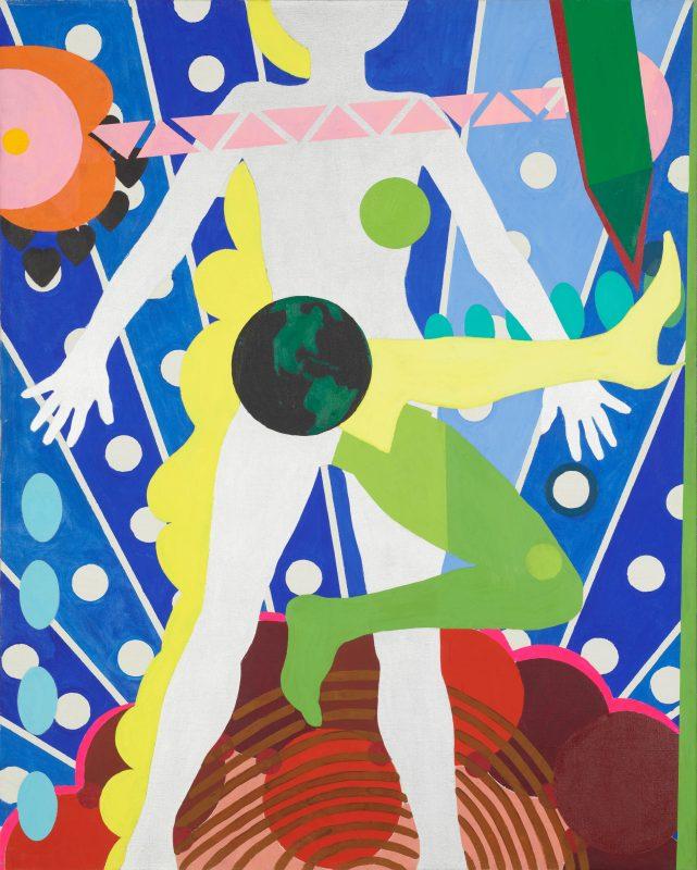 Kiki Kogelnik, Miss Universe, 1963 Huile et acrylique sur toile, 152.15 × 121.92 cm Courtesy Galerie Natalie Seroussi, © 1963 Kogelnik Foundation. Droits réservés