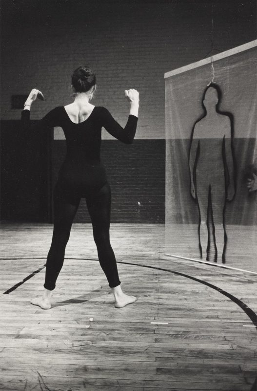 Al Giese, photo de English de Steve Paxton, danseuse Trisha Brown