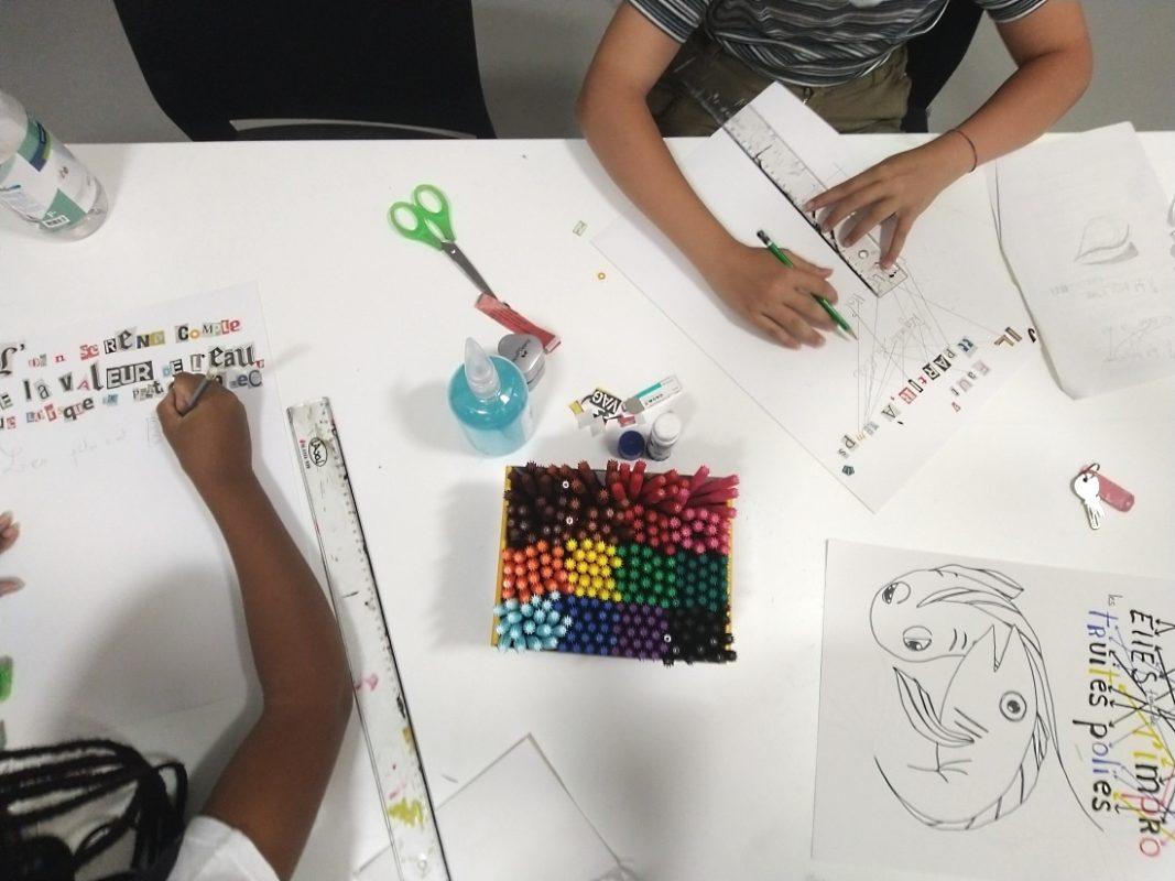 Atelier Mom'art Ados sur Jean Dupuy Août 2020 Copyright Ville de Nice